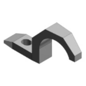 "Thomas & Betts 1281AL Pipe Strap, 1-Hole, 2"", Aluminum"