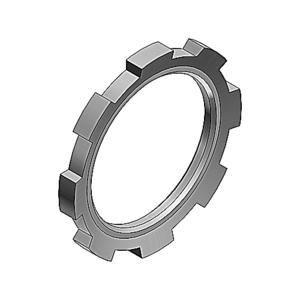 "Thomas & Betts 141AL Locknut, Size: 1/2"", Material: Aluminum"