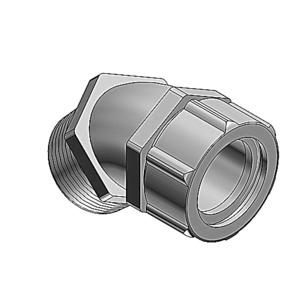 "Thomas & Betts 2204 1/2"" 45° Liquidtight Cord Connector, Iron, 0.500-0.625"""