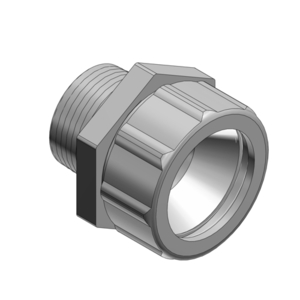 """Thomas & Betts 2536 Cord Connector, Strain Relief, Straight, Male, 3/4"""", Malleable Iron"""