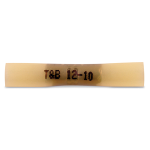 Thomas & Betts 2RCS10X Heat Shrink Butt Connector, 12 - 10 AWG, Yellow, Pack of 25