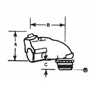 "Thomas & Betts 3132 Flex Connector, 90°, 1/2"", Tite-Bite, Insulated, Steel"