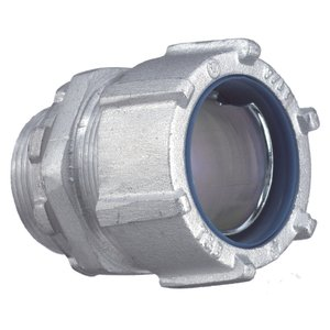 "Thomas & Betts 5237AL Liquidtight Connector, Straight, 2"", Non-Insulated, Aluminum"