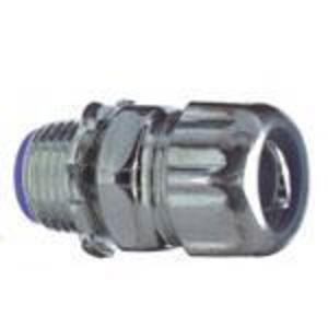 """Thomas & Betts 5331 Liquidtight Connector, Straight, 3/8"""", Insulated, Steel"""
