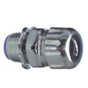"""Thomas & Betts 5332 Liquidtight Connector, Straight, 1/2"""", Insulated, Steel"""