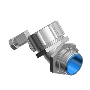 """Thomas & Betts 5349GR Liquidtight Grounding Connector, 45°, Insulated 3"""", Malleable Iron"""