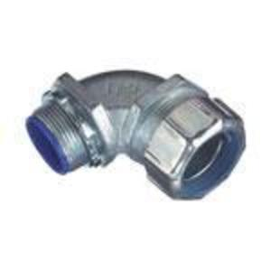 """Thomas & Betts 5352 Liquidtight Connector, 90°, 1/2"""", Insulated, Malleable Iron"""