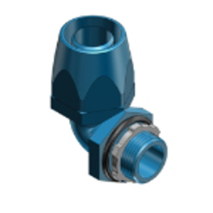 Thomas & Betts 6323 Liquidtight Connector, 90°, 3/4 Inch, Thermoplastic