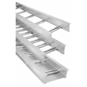 "Thomas & Betts AH1412L09144 Cable Tray, Ladder, Aluminum, 9"" Rung Spacing, 12"" W x 4"" H x 12' L"