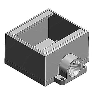 Thomas & Betts FD32-TB 1 INCH, 2G-DEEP BOX, IRON, D-END