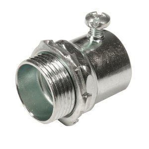 "Thomas & Betts HC-102 Rigid Set Screw Connector, Size: 3/4"", Steel/Zinc"