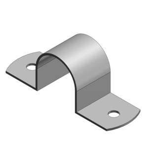 "Thomas & Betts HS-902 Rigid Conduit Strap, 2-Hole, 3/4"", Steel"