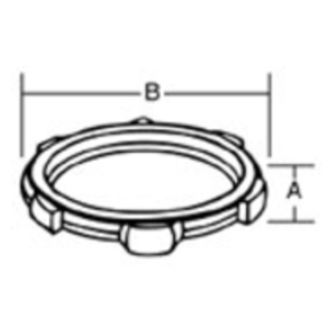 "Thomas & Betts LS-102 Locknut, Sealing Type, 3/4"", Steel With Zinc Finish"