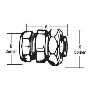 "Thomas & Betts LTT-113 Compression Coupling, Combination, EMT to Liquidtight, 1 - 1"""