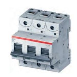 Thomas & Betts S803C-D63 Circuit Breaker, Miniature, DIN Rail Mount, 63A, 3P, 400VAC, D Trip