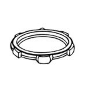 "Thomas & Betts SP-LN109 Locknut, Type: Thin, Size: 3-1/2"", Material/Finish: Steel/Zinc"