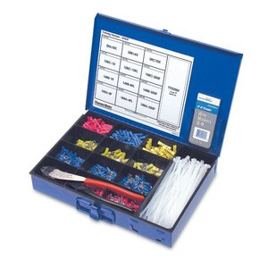 Thomas & Betts STAKIT Terminal Kit, Contains Terminals, Hand Tool, Cable Ties & Wire Marker Boo