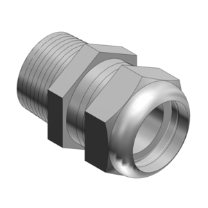 "Thomas & Betts 2932SST Liquidtight Strain Relief Connector, Size: 3/4"", Stainless Steel"