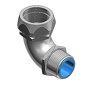 "Thomas & Betts 5352SST Liquidtight Connector, 90°, 1/2"", Insulated, Stainless Steel"