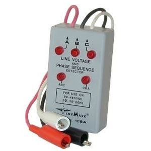 Time Mark 108A Line Voltage, Phase Sequence Detector, 90-600V, Wye/Delta