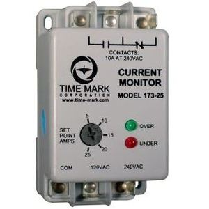 Time Mark 173-25 Current Monitor, 5-25A Range, SPDT, 120/240VAC, 10A Contacts
