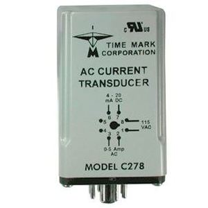 Time Mark C278 AC Current Transducer, 115VAC, 50/60Hz, 0-5A, 4-20mA