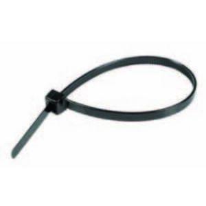 "Topaz BT0840 Cable Tie, 8"" Long, UV Rated Nylon, Black, 40lb Rating, 100/PK"