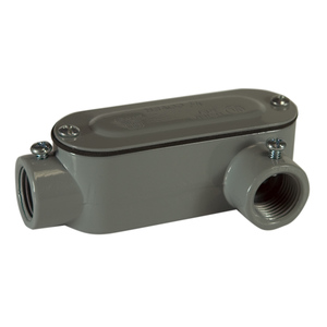 """Topaz LL2SSCG Conduit Body With Cover/Gasket, Type: LL, Size: 2"""", Aluminum/Steel"""