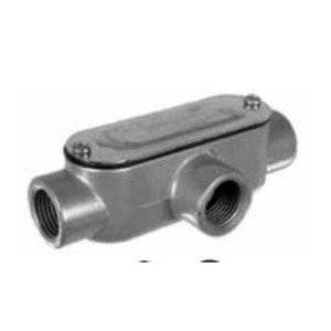 "Topaz T2CG Conduit Body, Type: T, 3/4"", Includes Cover/Gasket, Aluminum"
