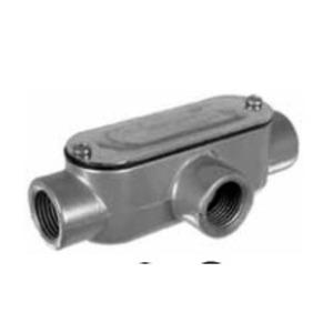 "Topaz T3CG Conduit Body, Type: T, 1"", Includes Cover/Gasket, Aluminum"