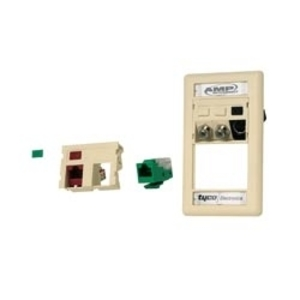 Tyco Electronics 1116409-3 Module, 2-Port, SL Series, White