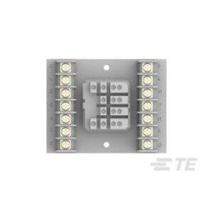 Tyco Electronics 27E867 Socket, 14 Blade, Screw Terminal, for KUP Relays, DIN Rail Mount