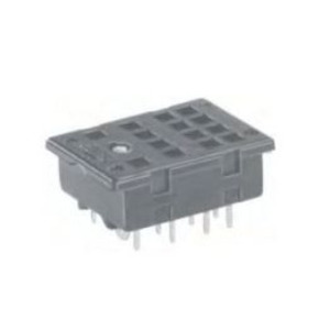 Tyco Electronics 27E894 Socket, 14 Blade, Screw Terminal, for KHA Relays, DIN Rail Mount