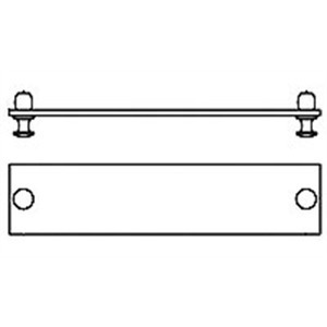 Tyco Electronics 559523-1 Blanking Module Plate, 2 Units, Black, Aluminum, Snap In