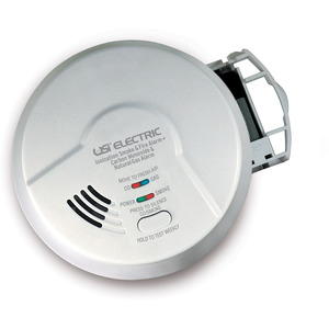 USI MICN109 Smoke/Carbon Monoxide/Natural Gas Alarm, Battery Backup
