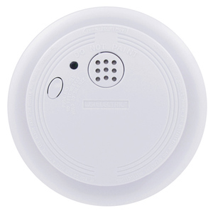 USI USI-1204 Smoke Detector, Ionization Sensor, 120VAC, Wire-In, White