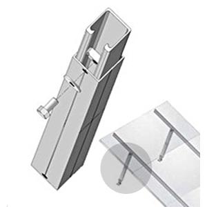 "UniRac 307134M 40-72"" Adjustable Single Tilt Leg Kit"