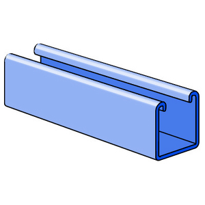 "Unistrut P1000-10HG Channel - No Holes, Steel, Hot-Dipped Galvanized, 1-5/8"" x 1-5/8"" x 10'"