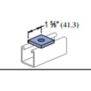 """Unistrut P1064-EG Square Washer, 1/2"""" Bolt Hole, Steel/Electro-Galvanized"""