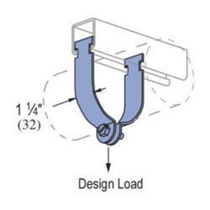 "Unistrut P1117AS-EG Rigid Strut Strap, 2"", Material: Steel"