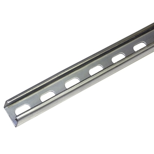 "Unistrut P3300T-10PG Channel, 1-5/8"" X 1-5/8"", 12 Gauge, Slotted, Steel, Pre-Galvanized"