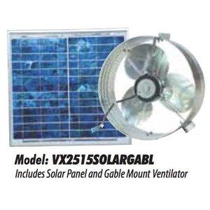 Ventamatic VX2515SOLARGABL SOLAR POWERED