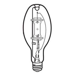 Venture Lighting 52134/MH400W/U/LU Metal Halide Lamp, ED37, 400W, Clear