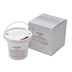Veolia SUPPLY-093 Dry Cell Battery Recycling Pail, 0.5 Gallons