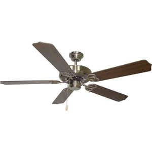"Volume Lighting V6155-33 52"" Ceiling Fan, 5 Blade, Brushed Nickel"