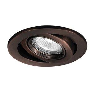 "WAC Lighting HR-8417-WT Adjustable Gimbal Ring Trim, 4"", White"