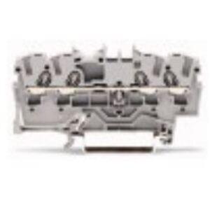 Wago 2002-1401 Terminal Block, Feed Through, 4 Conductor, 5.2mm, 24A, 550V AC/DC