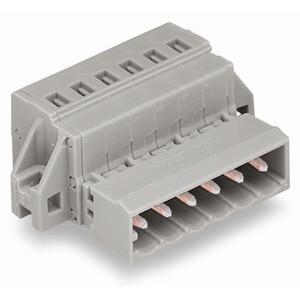 Wago 231-612/035-000 Rectangular Connector, Male, MIDI, 12P, Cage Clamp, Gray