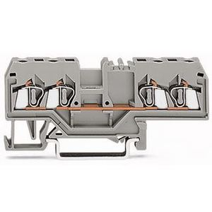 Wago 280-633 Terminal Block, Feed Through, 4 Conductor, 5mm, 20A, 800V AC/DC