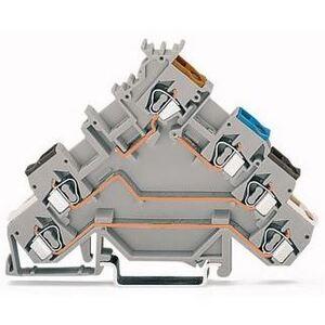 Wago 51139498 Terminal Block, Sensor, Gray, 4 Conductor, 20A, 400V AC/DC, 5mm